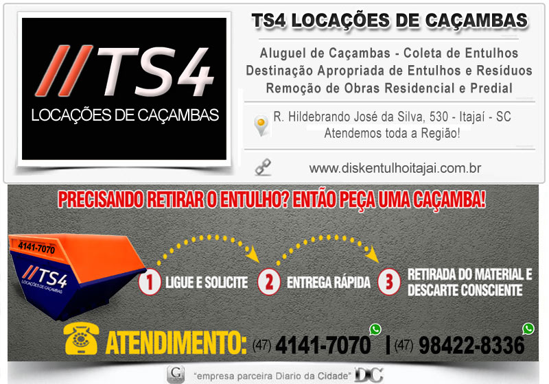 Caçamba Tira Entulho em itajai caminhão Coleta ts4 soluções Coleta Leva telefone aluguel lixo de construção obra residencial disk lixo itajai industrial aluguel